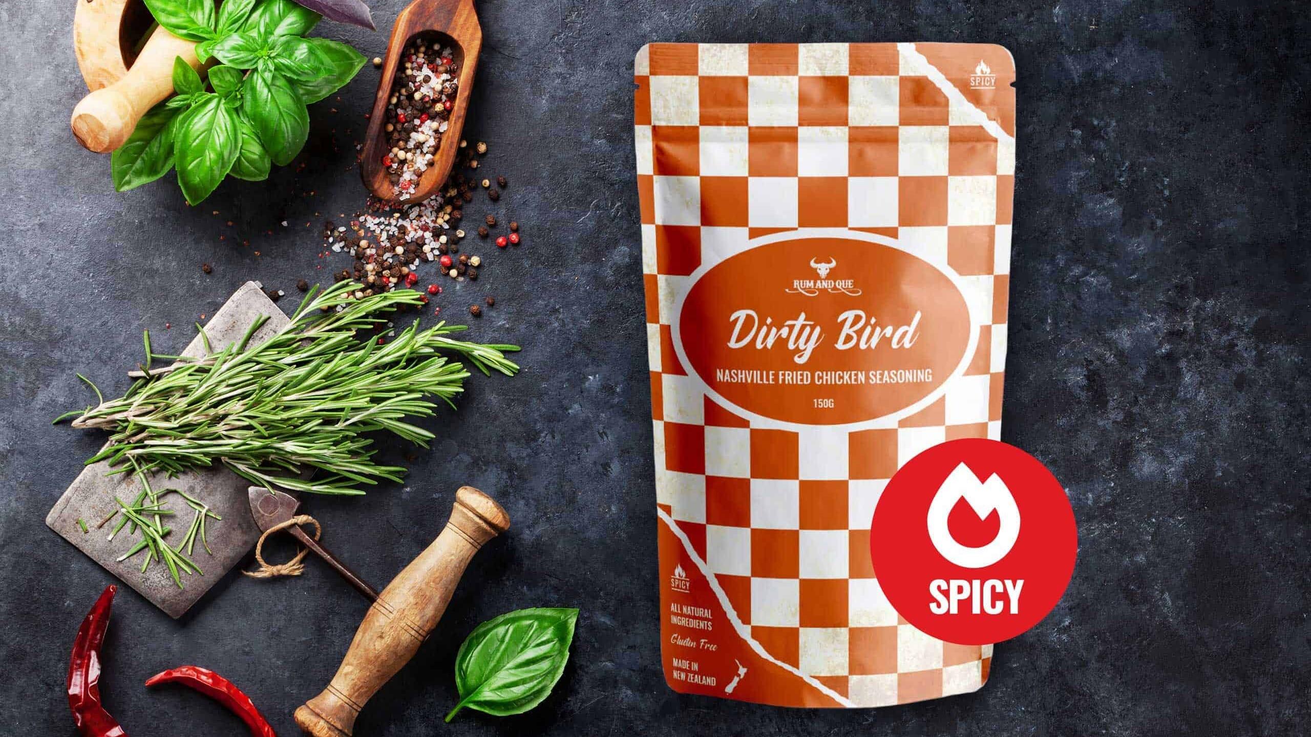 Rum & Que Dirty Bird Nashville Fried Chicken Seasoning